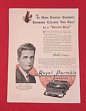 1931 Royal Portable Typewriter with Robert V. Cronan (Image1)
