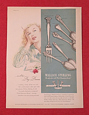 1951 Wallace Sterling Silver with Woman Daydreaming (Image1)