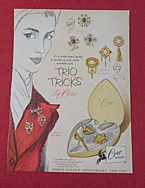 1951 Coro Jewelry with Trio Tricks  (Image1)