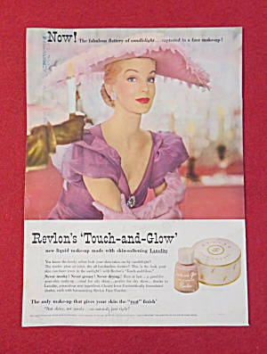1951 Revlon Touch & Glow Make Up w/ Lovely Woman  (Image1)