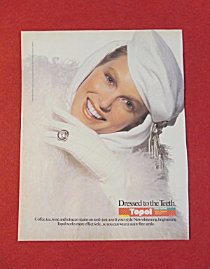 1987 Topol Toothpaste with A Lovely Woman Smiling  (Image1)