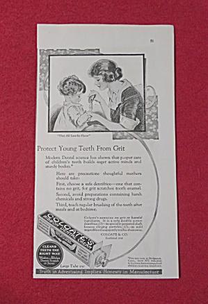 1923 Colgate Dental Cream with Woman & Child  (Image1)