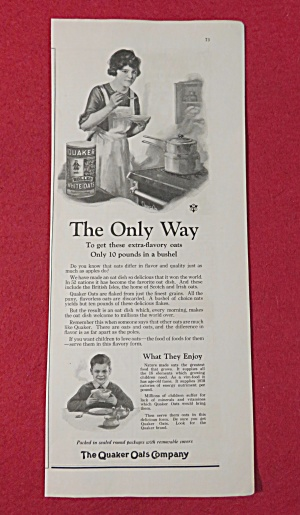 1923 Quaker Rolled White Oats with Mom Cooking (Image1)