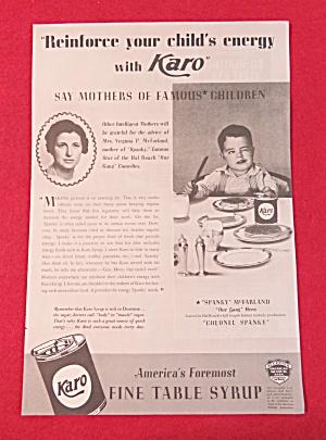 1936 Karo Syrup with Spanky McFarland & His Mother (Image1)