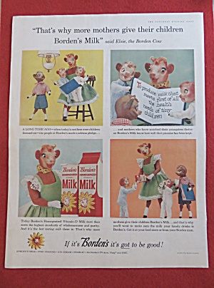 1958 Borden's Milk with Elsie The Cow & Children  (Image1)