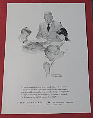 1962 Massachusetts Mutual Life Insurance By N Rockwell (Image1)