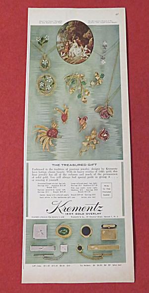 1962 Krementz Jewelry with The Treasured Gift  (Image1)