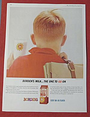 1962 Borden's Milk with Boy & Glass Of Milk  (Image1)