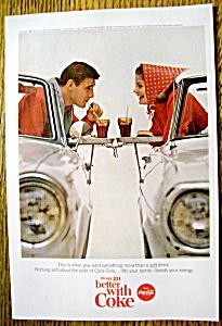 1965 Coca Cola (Coke) w/Woman & Man in their Car (Image1)