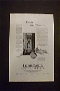 1926 Dual Ad: Long Bell Lumber & Oil O Matic Heating (Image1)