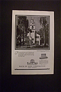 Vintage Ad: 1926 Rock Of Ages Corporation (Image1)