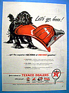 Vintage Ad: 1946 Texaco Fire Chief Gasoline (Image1)