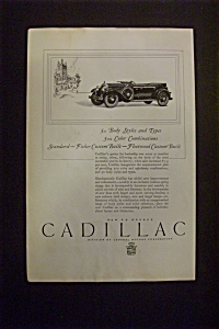 1926 Dual Ad: Cadillac  &  Hamilton  Watch (Image1)