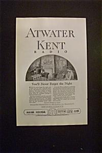 Vintage Ad: 1925 Atwater Kent Radio (Image1)