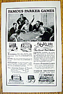 Vintage Ad: 1927 Parker Brothers Games (Image1)