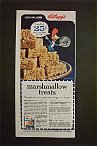 1963 Marshmallow Treats With Woody Woodpecker