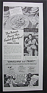 1936 Quaker Puffed Wheat With Errol Flynn