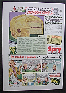 Vintage Ad: 1940 Spry Shortening & Rinso Soap