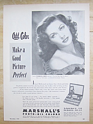 1949 Marshall's Photo-Oil Colors with Yvonne De Carlo (Image1)
