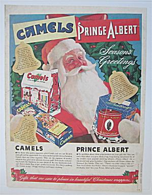 1940 Camel Cigarettes & Prince Albert Tobacco w/Santa  (Image1)