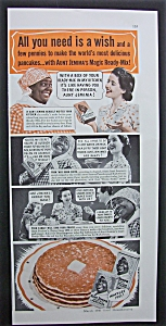 1940 Dual Ad: Aunt Jemima Ready Mix & Magic Chef Oven