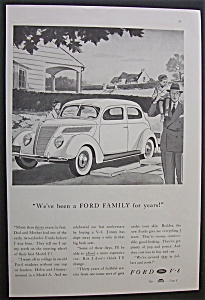 1937 Ford V-8 Cars with Man & Child Next to Car (Image1)