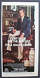 1975 Williams & Humbert Dry Sack With Frank Gifford