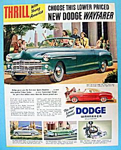 Vintage Ad: 1949 Dodge Wayfarer (Image1)