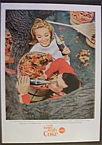 1965 Coca Cola (Coke) with Woman & Man Taking A Break (Image1)