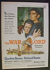 Vintage Ad: 1965 The War Lord W/ Charlton Heston