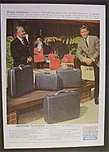 1965 American Tourister Luggage W/ Richard Chamberlain