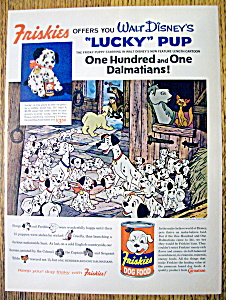 1961 Friskies Dog Food W/ Walt Disney's 101 Dalmatians