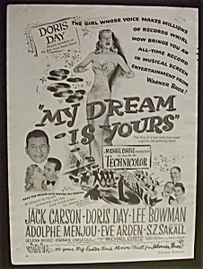 1949 Dual Ad: My Dream Is Yours & South Of St. Louis (Image1)