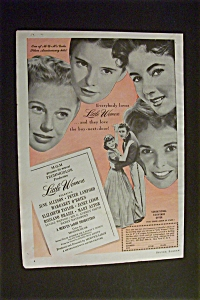 Vintage Ad: 1949 Little Women With Elizabeth Taylor
