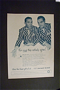 1947 U.s. Savings Bond W/ Bing Crosby & Bob Hope