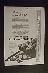 Vintage Ad: 1918 Diamond Brand California Walnuts