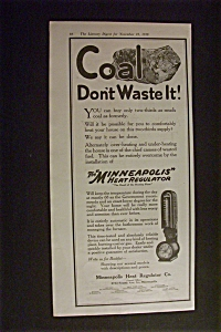 1918 Dual Ad: Minneapolis Heat Regulator & Sealy (Image1)