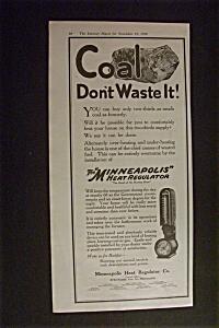 1918 Dual Ad: Minneapolis Heat Regulator & Sealy (Image1)