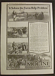 Vintage Ad: 1918 Moline Universal Tractor/elgin Watches