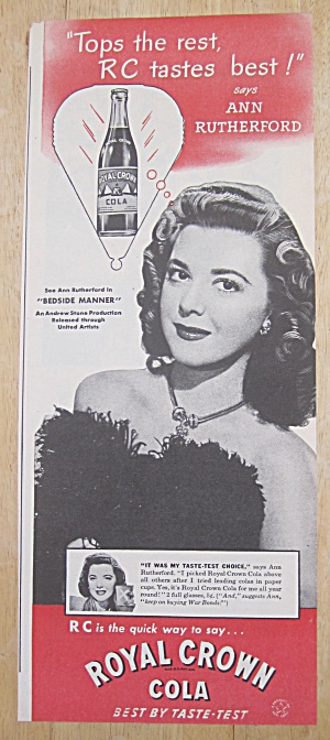 1945 Royal Crown Cola with Ann Rutherford (Image1)