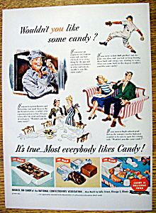 1947 Candy Is Delicious Food With 4 Different Scenes