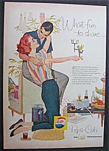 1958 Pepsi-Cola (Pepsi) with a Man & Woman (Image1)