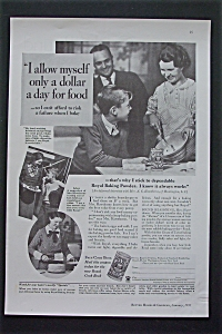 1935 Royal Baking Powder With A Dollar A Day