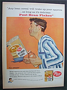 Vintage Ad: 1958 Post Bran Flakes By Dick Sargent