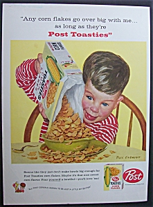 Vintage Ad: 1958 Post Corn Flakes By Dick Sargent (Image1)