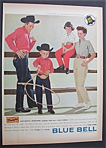 1958 Blue Bell Wranglers with Family Wearing Clothes (Image1)