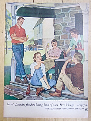 Vintage Ad: 1953 Beer Belongs By John Falter