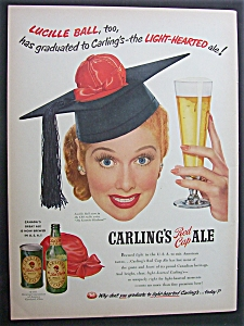 1951 Carling's Red Cap Ale with Lucille Ball (Image1)