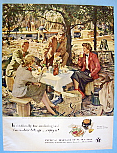 Vinatge Ad: 1951 Beer Belongs By John Gannam (Image1)