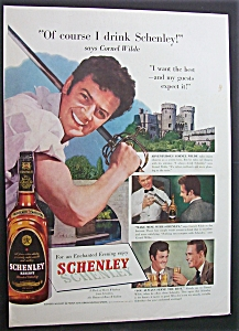 1951 Schenley Whiskey With Cornel Wilde